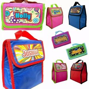 $5 Kids foldable lunch bag with name pick 1!